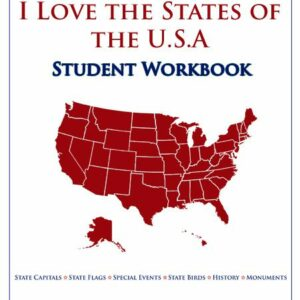 I Love the States of the USA  — Student Workbook